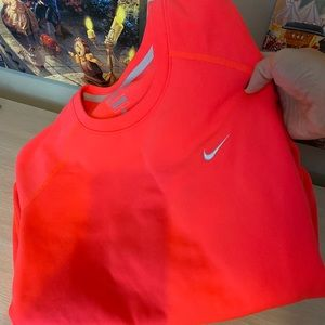 Neon Coral dry fit Nike Pullover